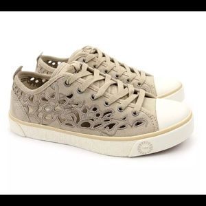 UGG Australia Evera Cut Out Sand Suede Sneakers